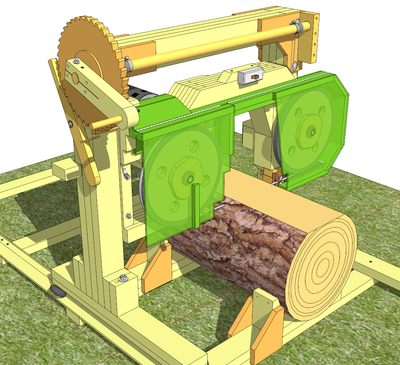 14 Bandsaw Sawmill Plans For Sale