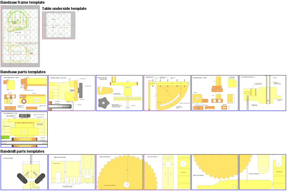 Bandsaw / sawmill plans preview