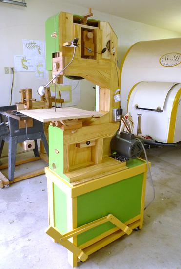 Rudolf Baumueller S Bandsaw With Sawmill Sled
