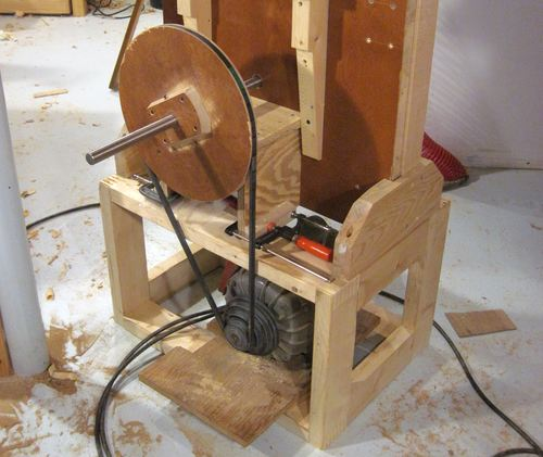 Building the bandsaw stand Band saw table