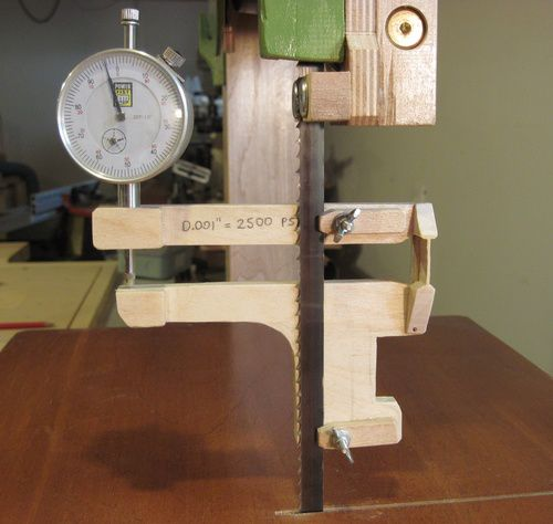 Bandsaw tensioning because clamping a caliper to a bandsaw blade is awkward and can damage the blade i built myself a simple bandsaw tension gauge using some birch plywood greentooth