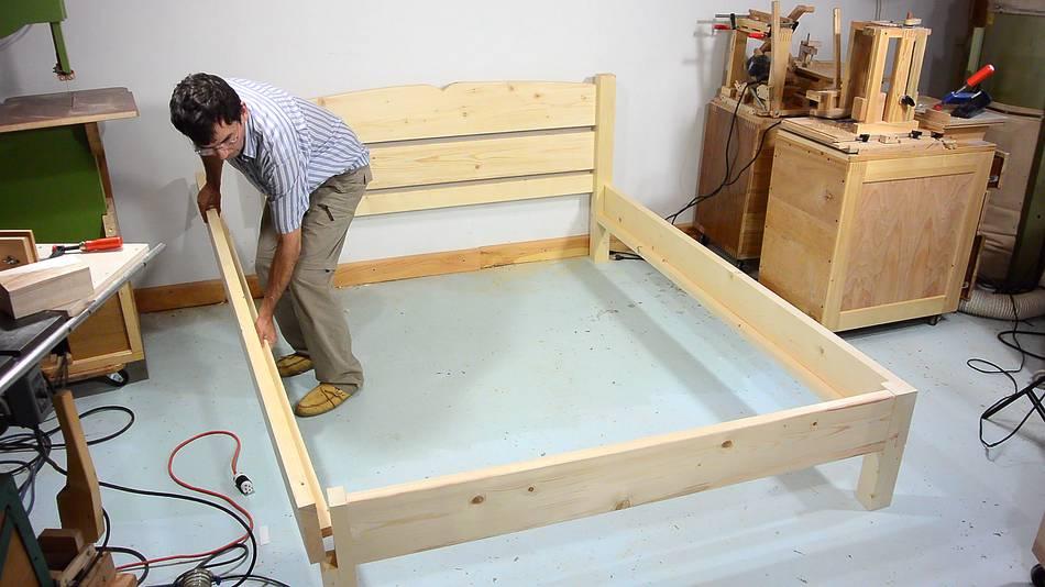 Как сделать дно кровати