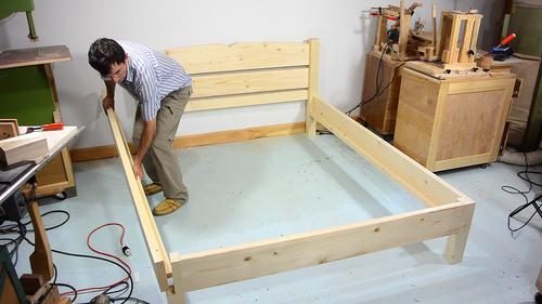 queen size bed from 2x4 lumber. Black Bedroom Furniture Sets. Home Design Ideas