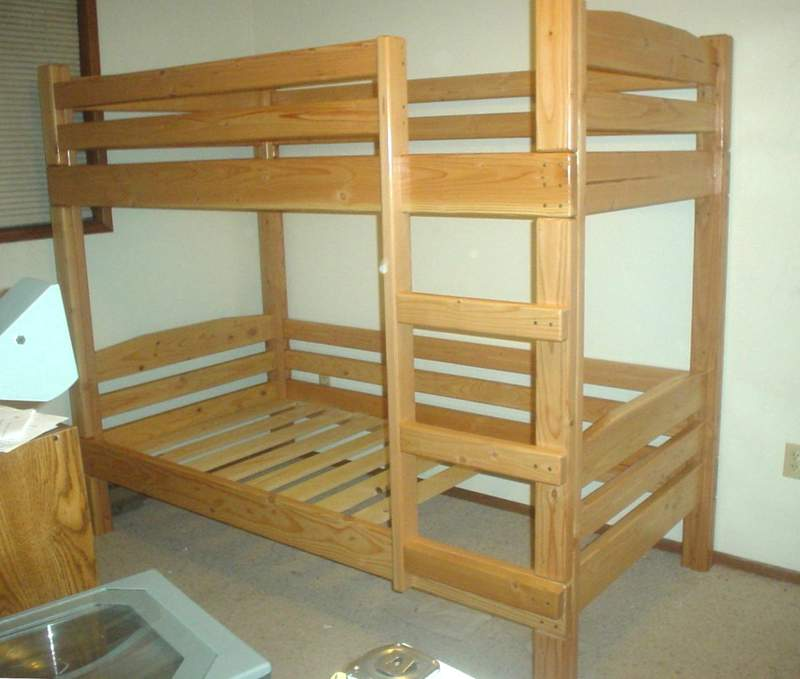 woodwork free bunk bed building plans pdf plans