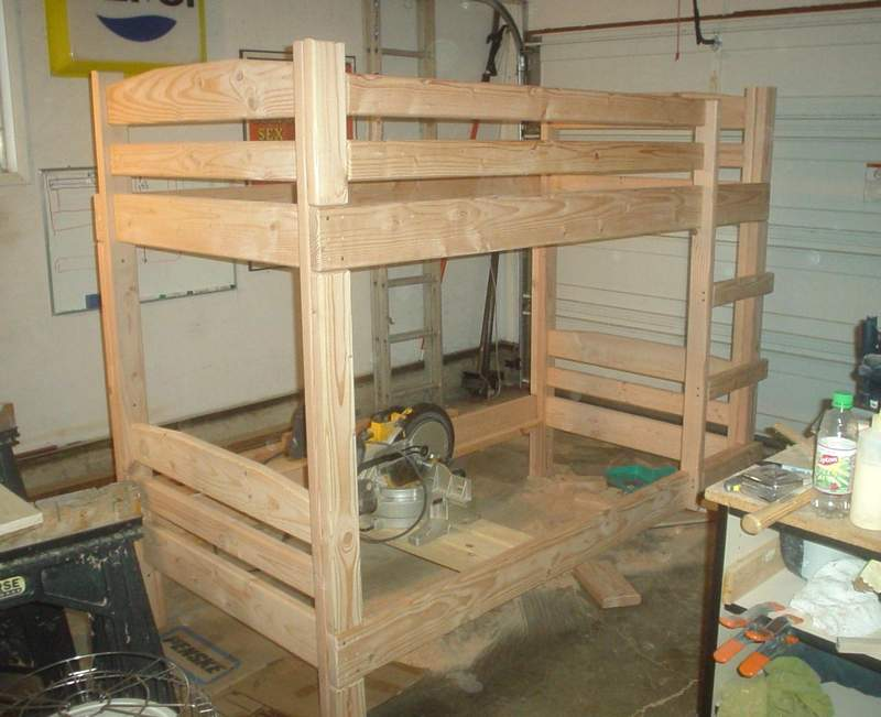 bunk bed plans construction lumber
