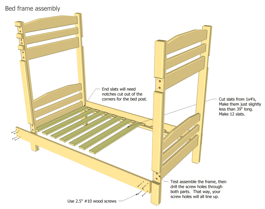 Pdf diy bunk bed frame plans download bunk bed plans lowes Loft bed plans