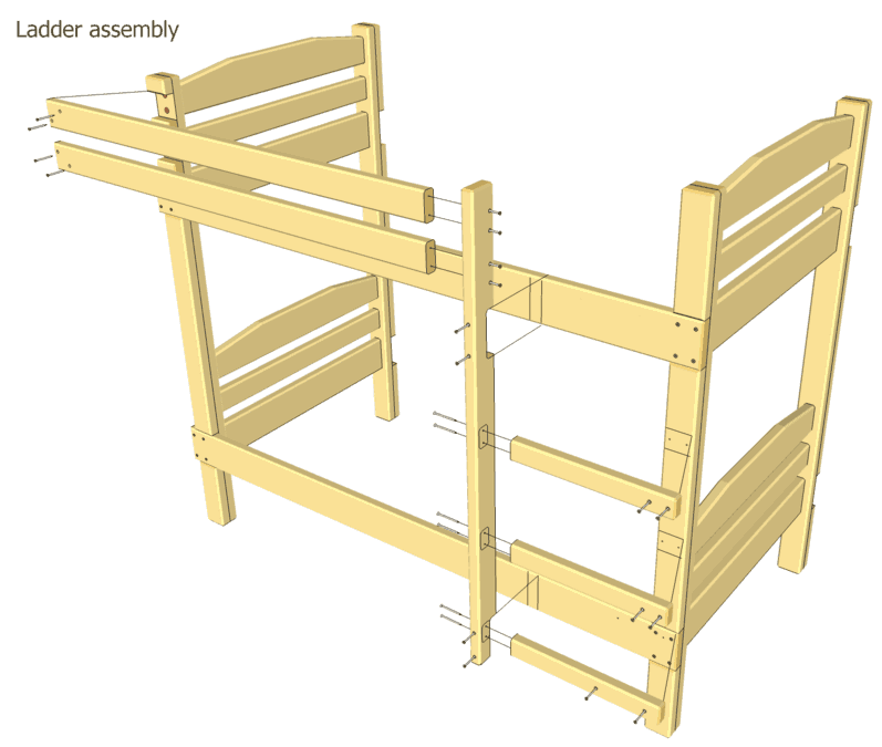 Woodworking plans wood bunk bed plans free pdf plans for Bunk bed woodworking plans