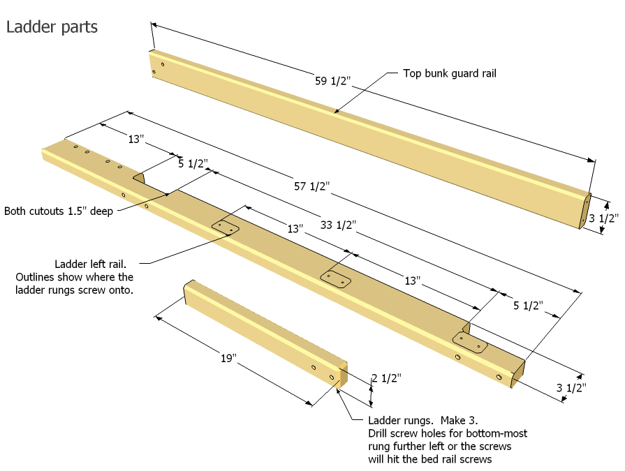 Loft Bed Ladder Plans Pdf Woodworking