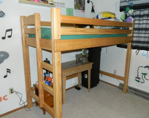 bunk bed side rail height 1