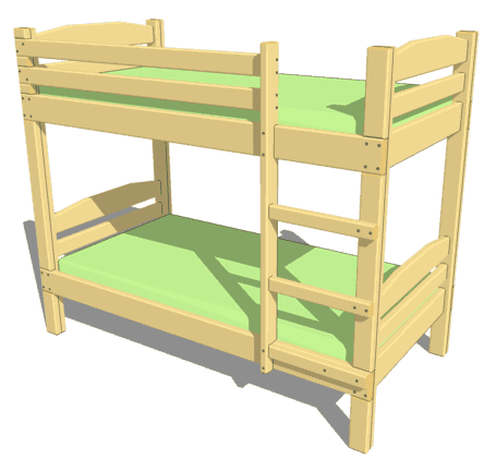 plans to build a bunk bed ladder