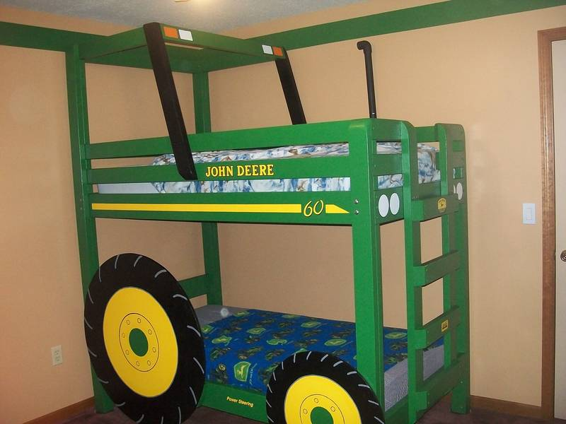 John Deere Tractor Bunk Bed Plans 800 x 600