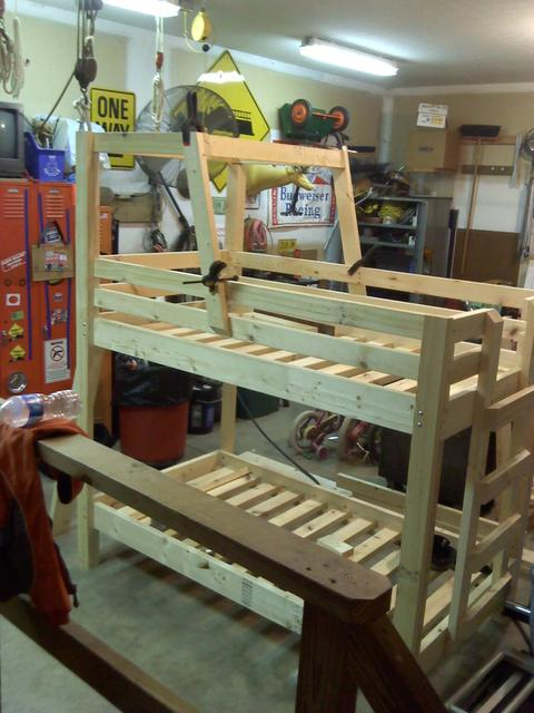 how to build tractor bunk bed 1