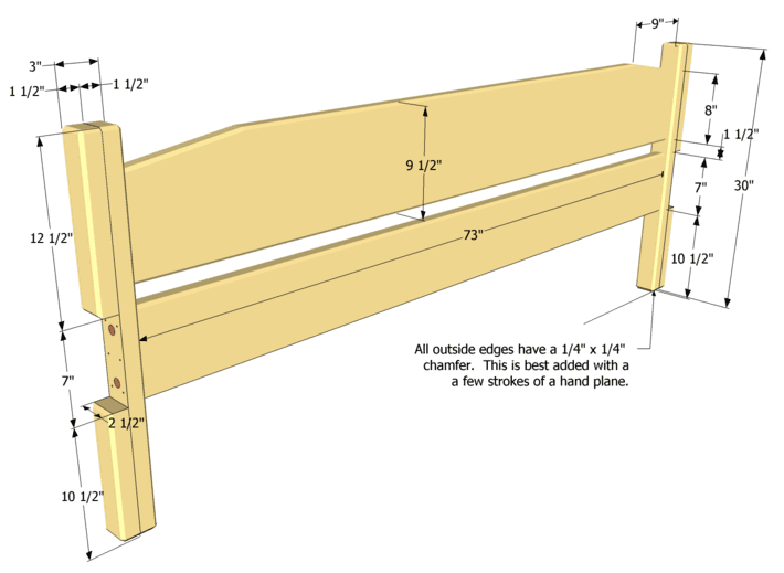 Easy to build king size bed plan Simple wood bed frame designs