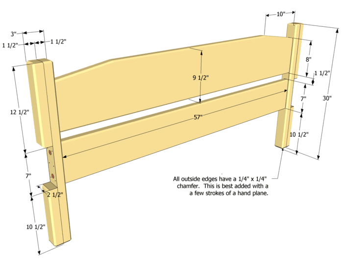 queen bed headboard plans