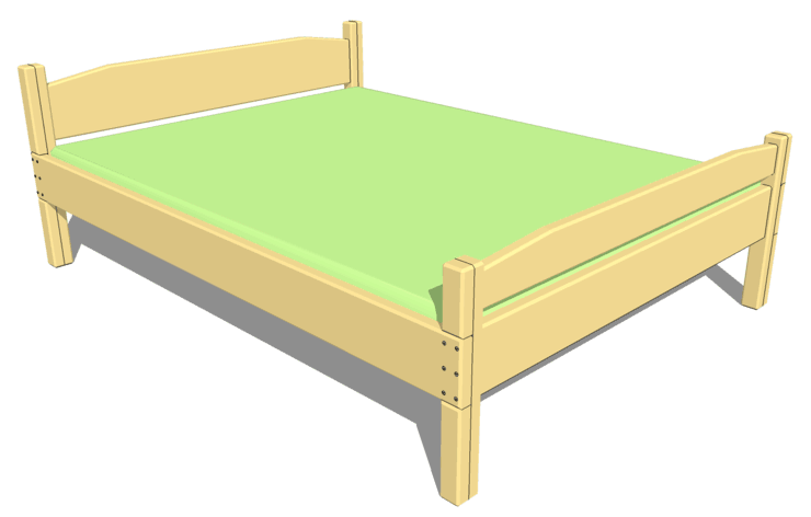Queen Size Bed Plan