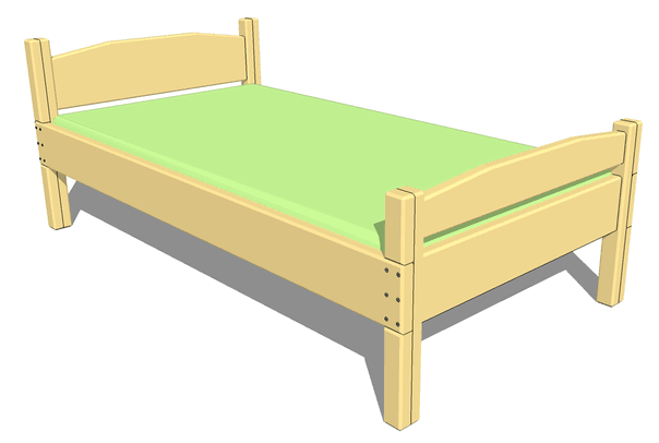 twin bed plans dimensions