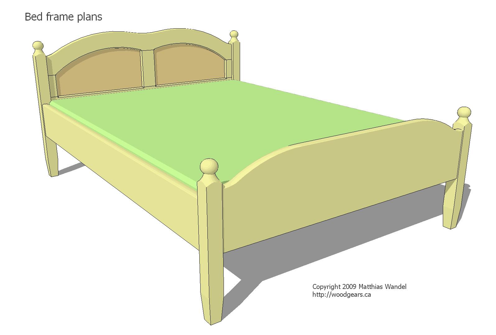 Wooden bed building plans queen plans pdf download free for Bed design plans