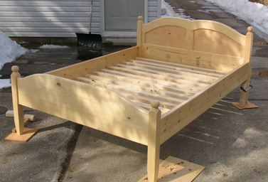 building a wooden bed frame