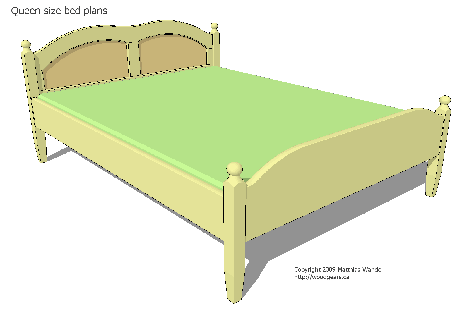 Queen Size Bed Frame Under  Inches Long