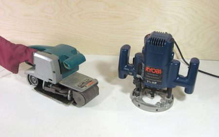 belt sander and router