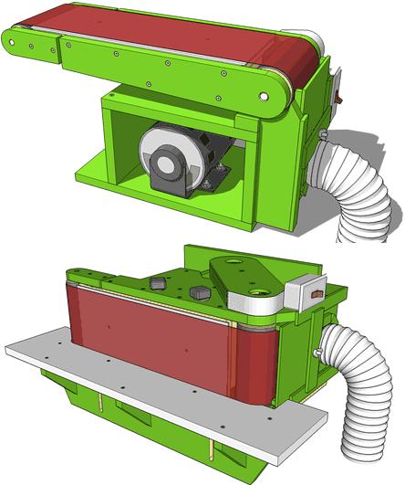 Horizontal belt grinder plans