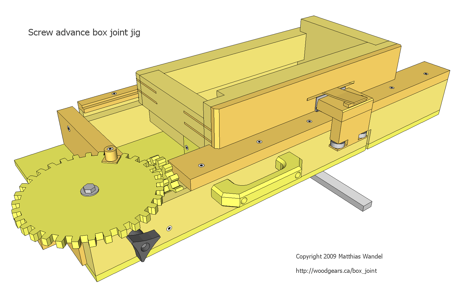 Screw advance box joint jig plans greentooth Image collections