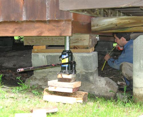 Foundation frost heaving for Foundation options for cabins