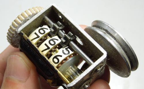 DAYTON Mechanical Counter, Black, Number of Digits: 6, Base ...