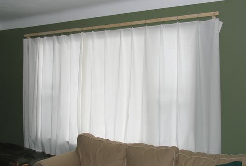 cheap and simple curtain rods. Black Bedroom Furniture Sets. Home Design Ideas