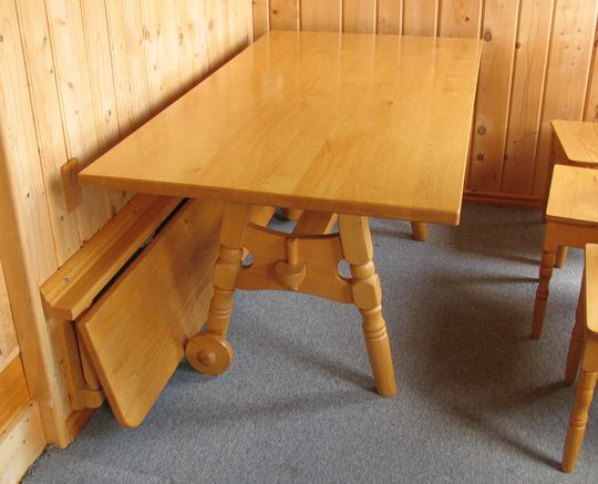 Great Fold Down Bench Table That Folds Against Wall
