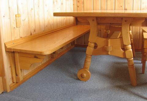 Fold down bench