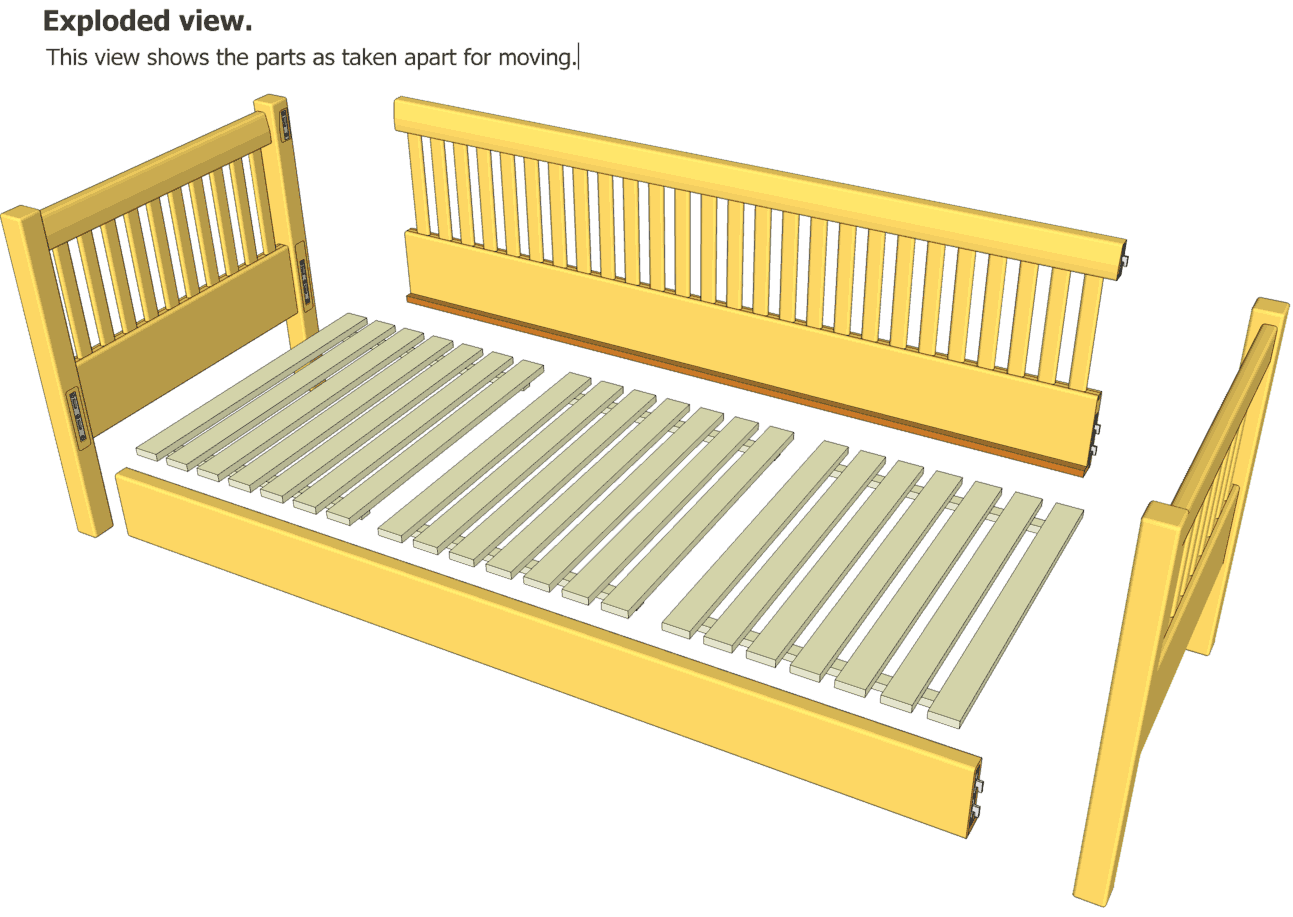 You can also download the daybed plans SketchUp CAD model .You will ...