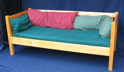 but i have been using this daybed for years now and it has withstood the test of time i stack pillows against the sides and back of it so it makes a nice building frame day bed