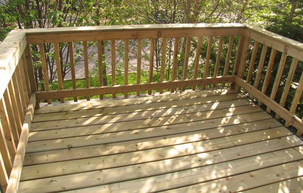 Building a deck - Barandas de terrazas ...