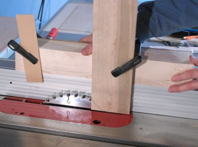 Making a zero clearance table saw insert the blade will cut a slot along most of the insert to prevent the possibility of the insert splitting apart on account of this its best to reinforce it greentooth