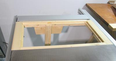 Router table for the table saw and here the frame is mounted on the saw i also added a leg to the frame to support the extended table keyboard keysfo Choice Image