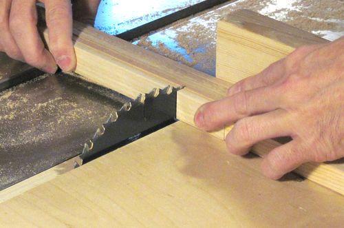 Making wooden domino blocks