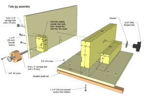 graphic relating to Printable Dovetail Template named Desk noticed dovetail jig Designs preview
