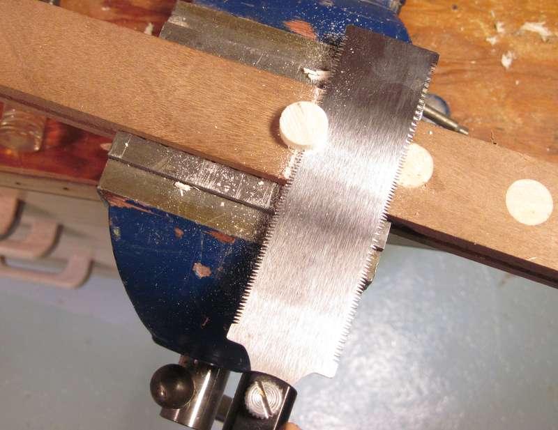 Wall To Flush Cut Saws : Flush cutting a dowel
