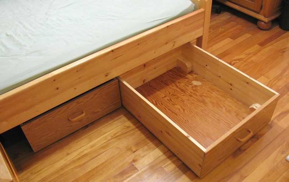 Cajones para almacenaje bajo cama for Camas con almacenaje