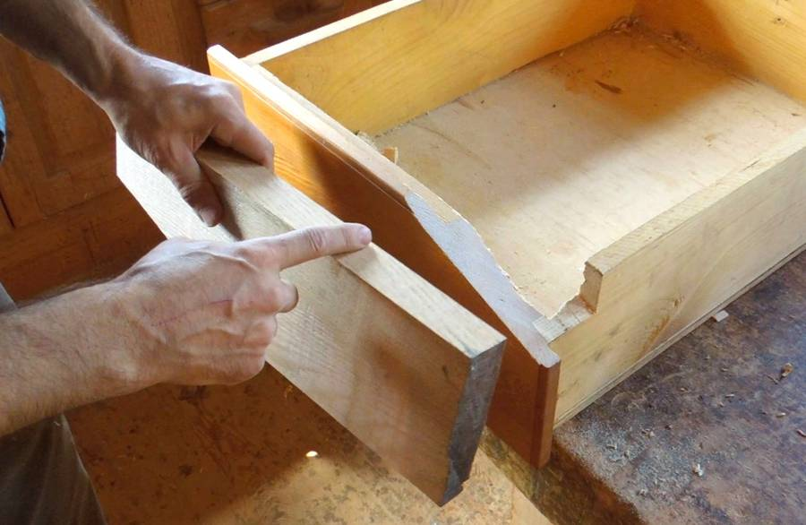 Repairing A Drawer Front