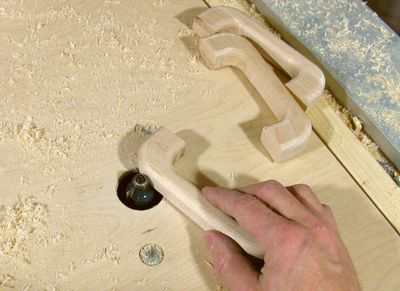 Making wooden drawer handles and finally routing the outside edges greentooth Images