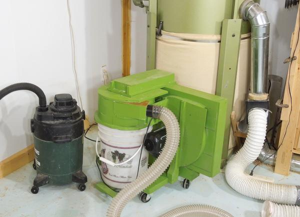 Dust Collector Blower : Homemade small dust collector the blower