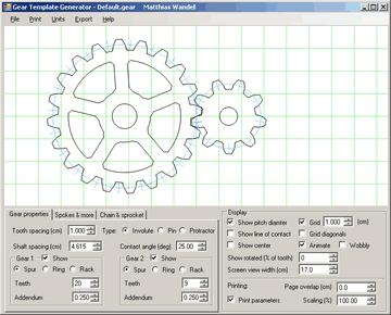 gear template generator help