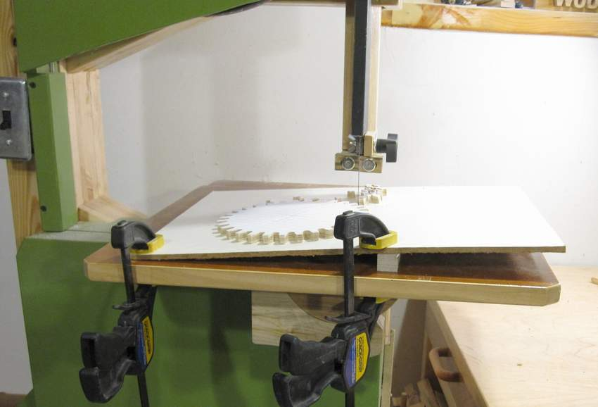 If your bandsaw table can't be