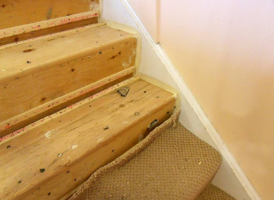 New treads for old stairs