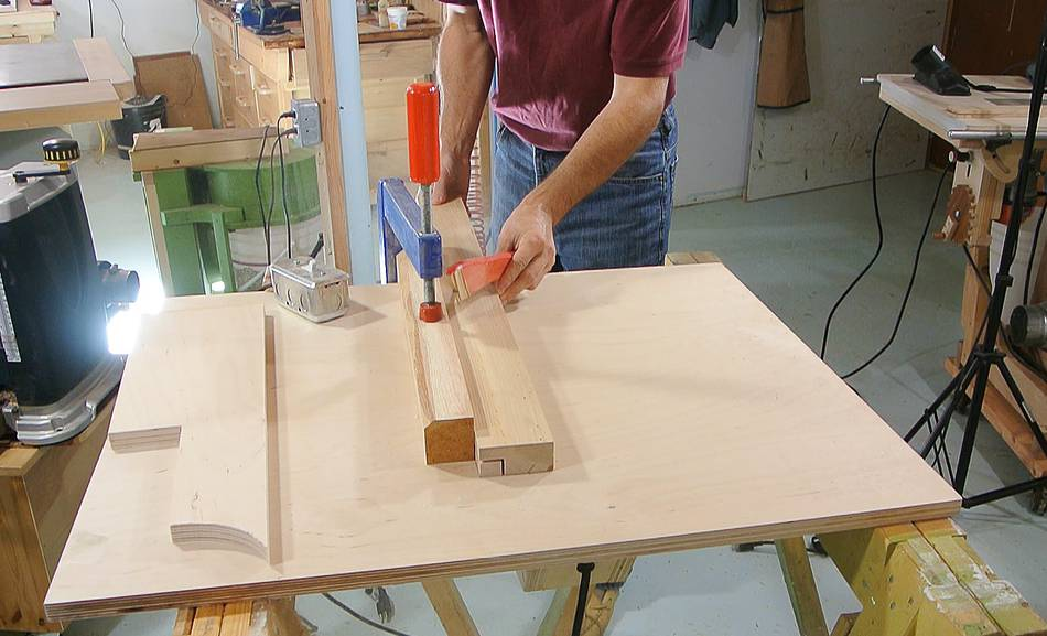 Homemade table saw fence - Plan de travail fait maison ...