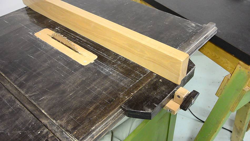 Rip fence for the homemade table saw Table saw fence