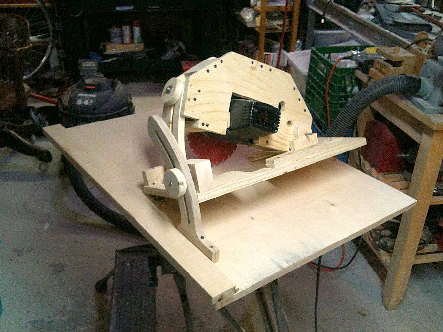 Ian Whatmough's homemade table saw