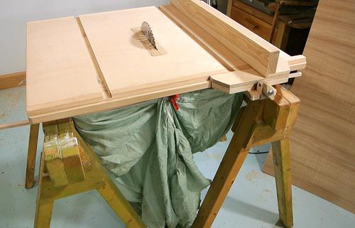 Homemade table saw stand - Sierra para cortar madera ...